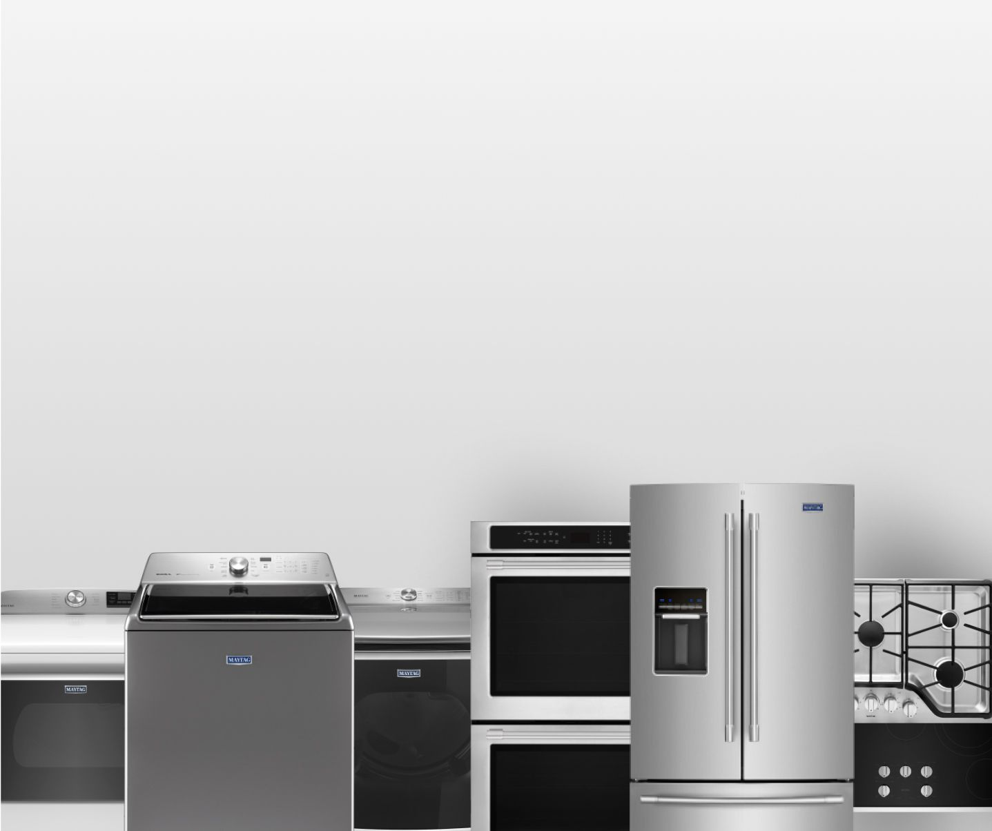 A laundry room arranged with a Whirlpool® washer and dryer.