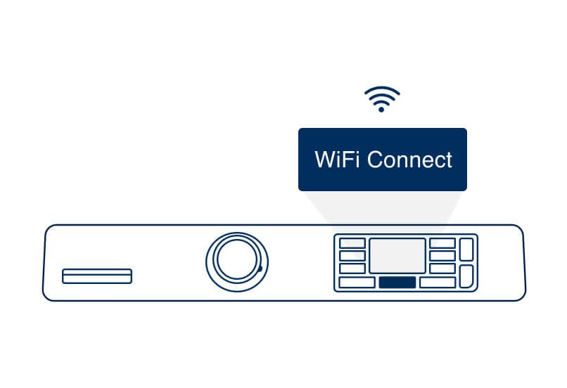 Step 5. Press and release the WiFi button.