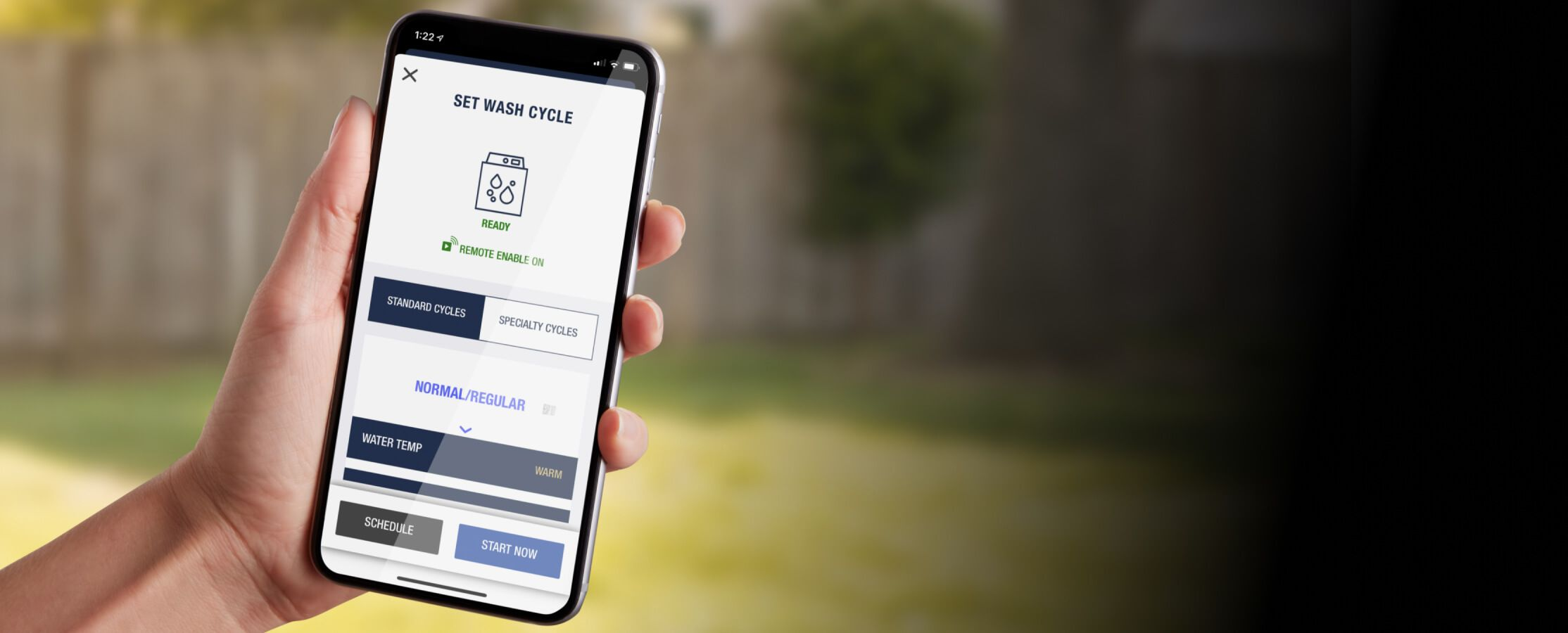 Maytag™ App feature for remote start.