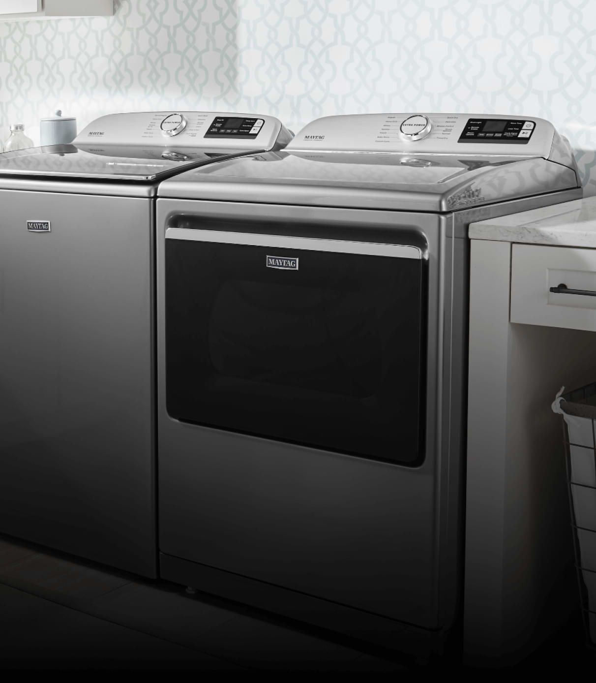 Voice Control to control and monitor your Maytag® connected appliance.