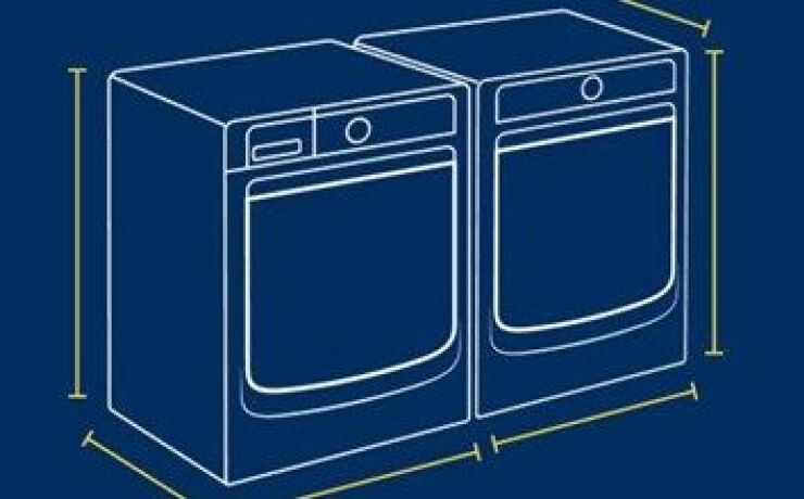 Drawing of laundry pair with arrows.