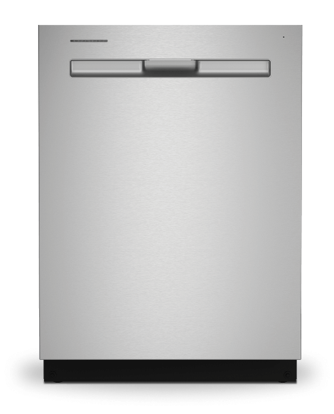 Stainless steel dishwasher with integrated handle