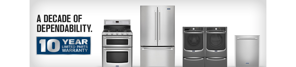 Learn more about the Maytag 10-year, Limited Parts Warranty.