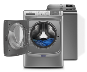 Maytag® front and top load washing machines.