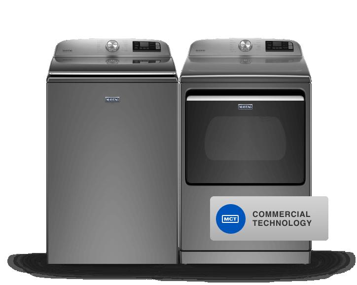 Maytag® top load laundry pair.