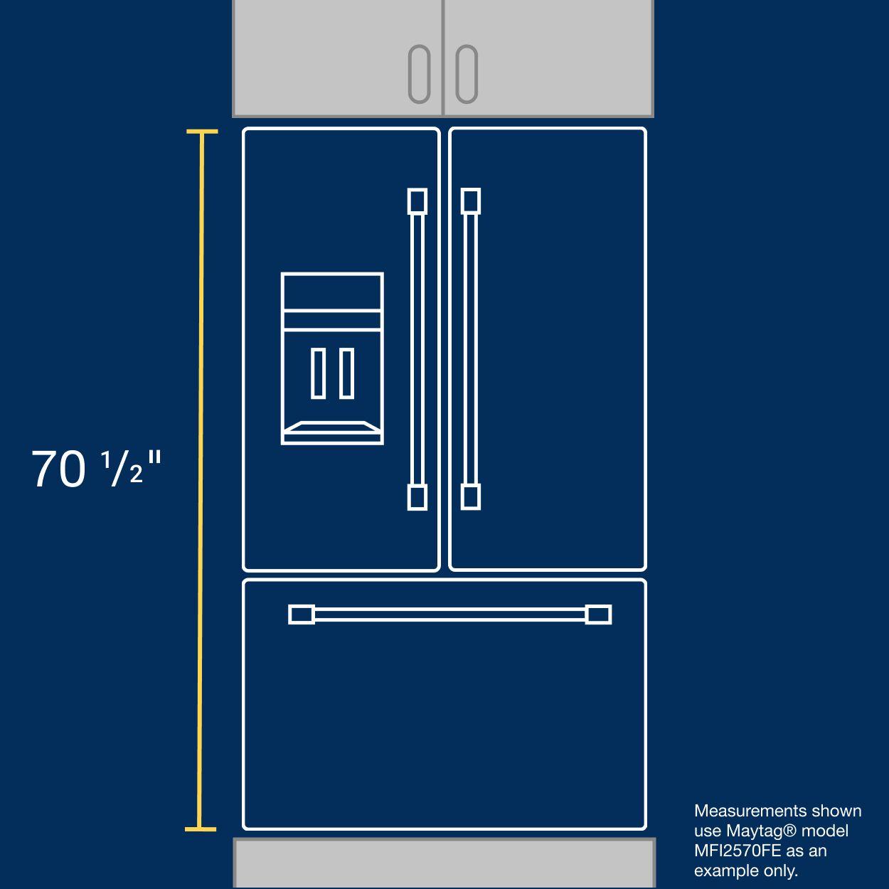 Measuring refrigerator height