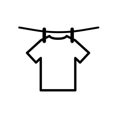Line dry icon