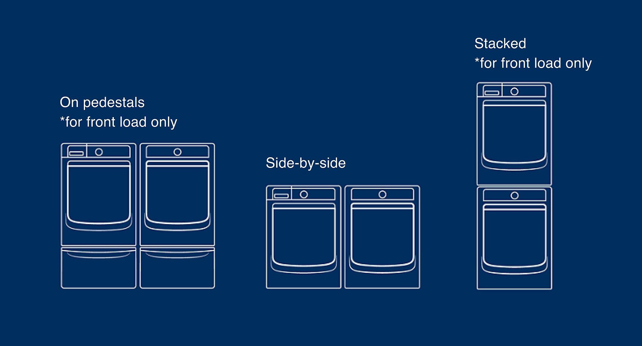 Laundry pair setup options