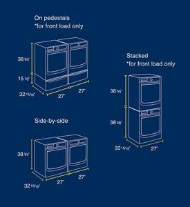 Sample measurements for laundry setups