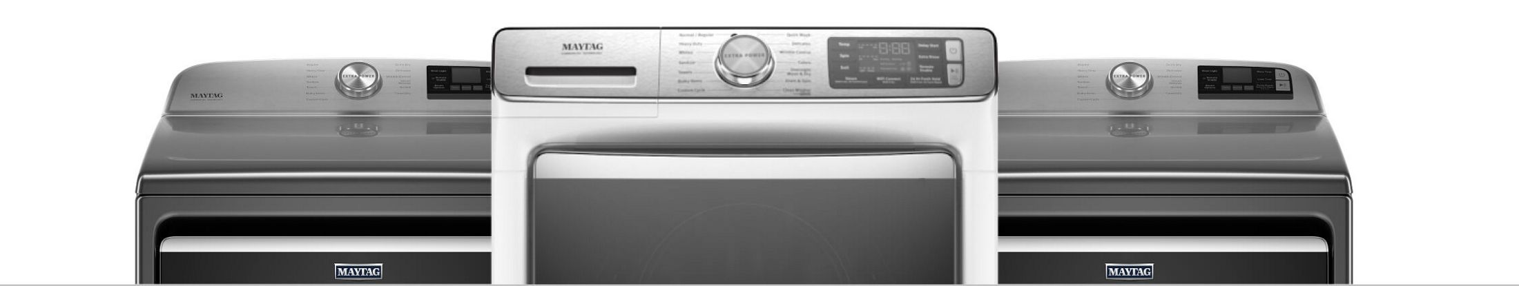 The top of three dryers