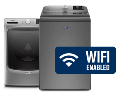 Two WiFi-enabled washers