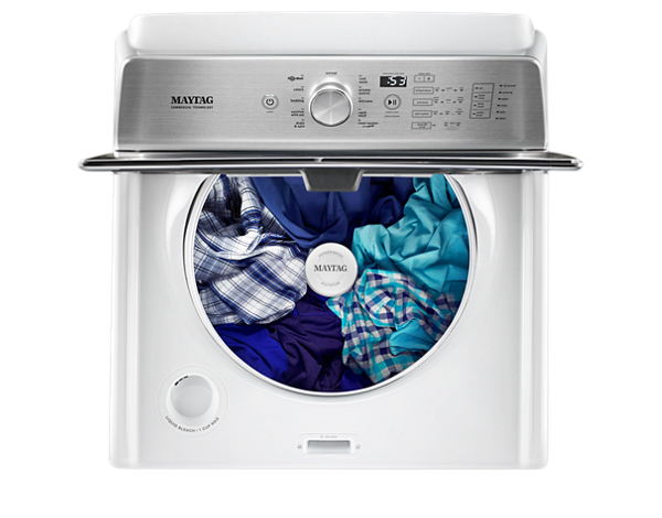 Get your laundry clean with a top-load washer.