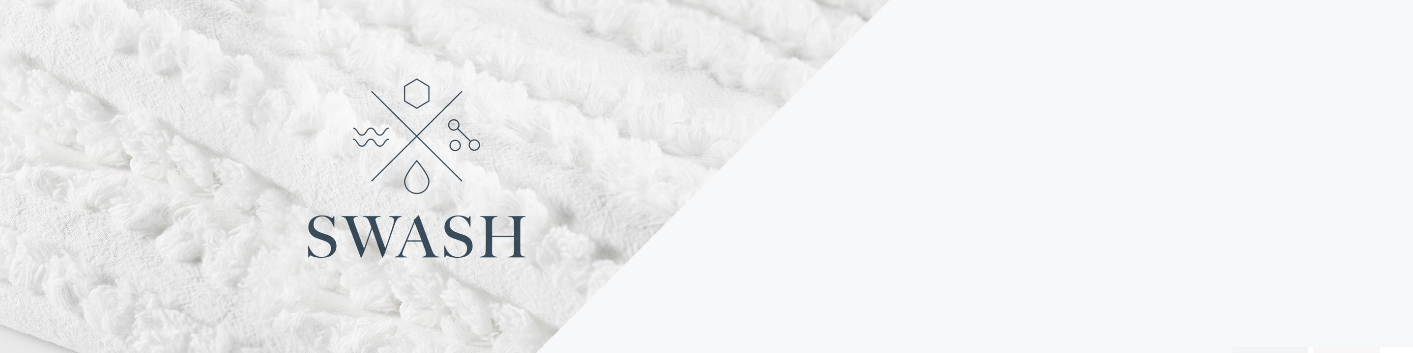 A plush white textile