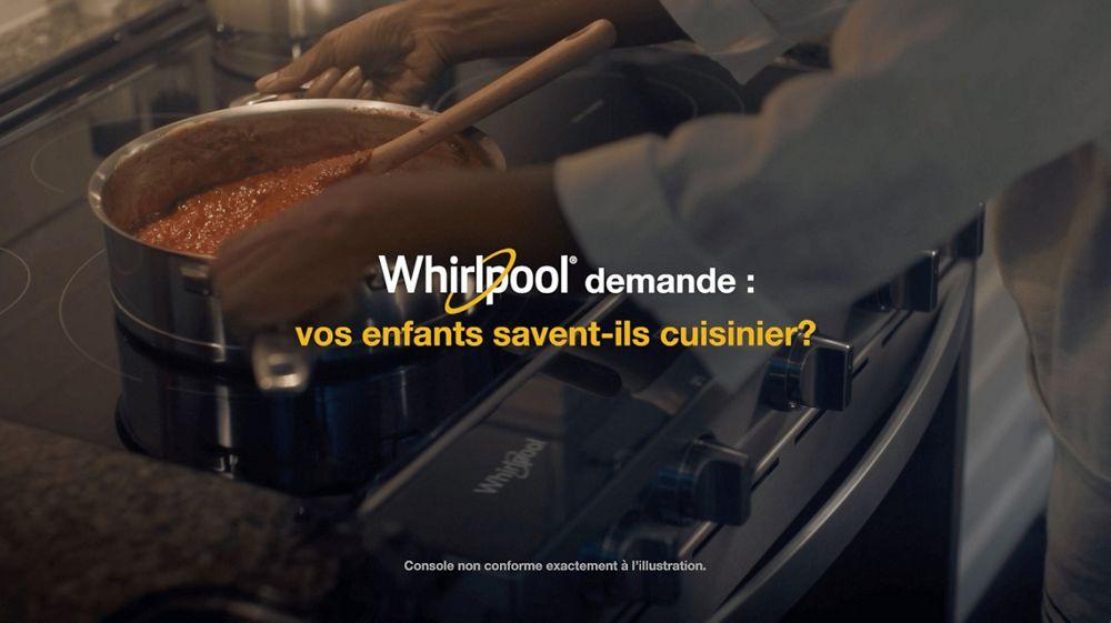 Whirlpool demande : vos enfants sont-ils capables de cuisiner?