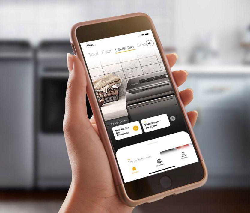Les électroménagers connectés peuvent vous fournir des mises à jour lorsque vous êtes en déplacement.