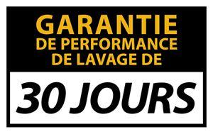 30 jours garantie de performance de lavage de
