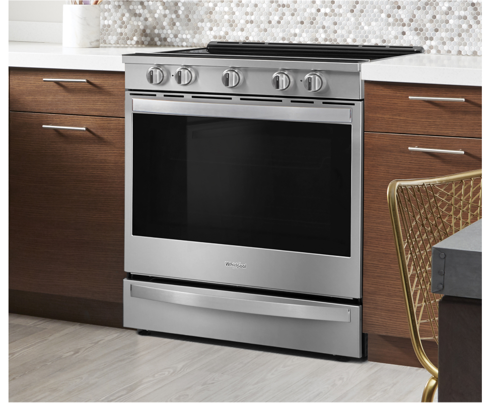 Get a gas or electric range from Whirlpool