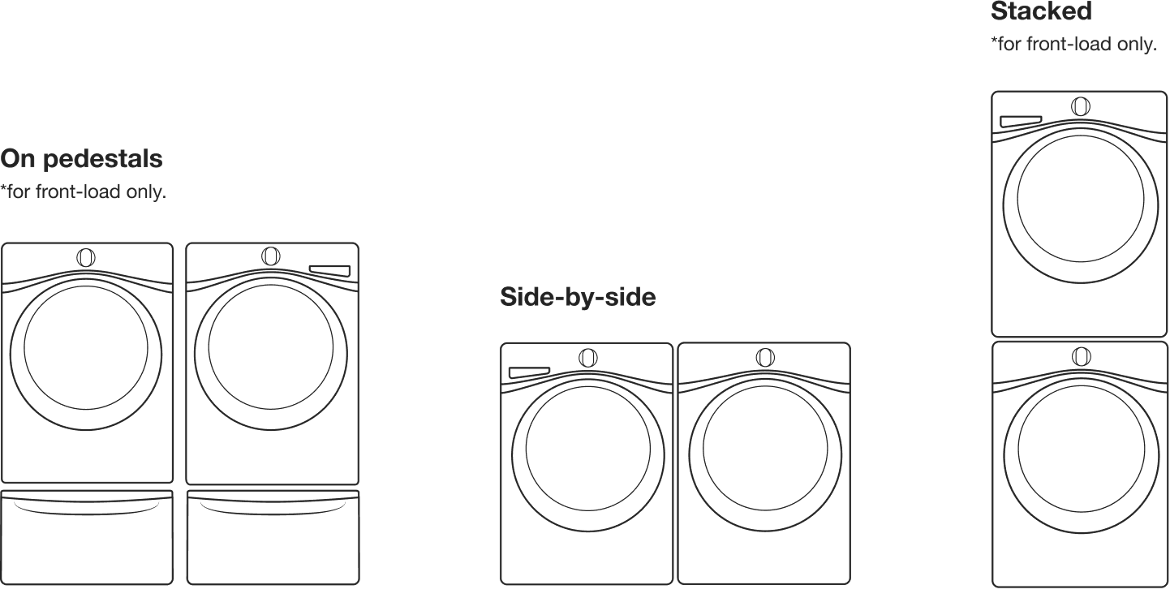 Standard washer and dryer sizes for every setup