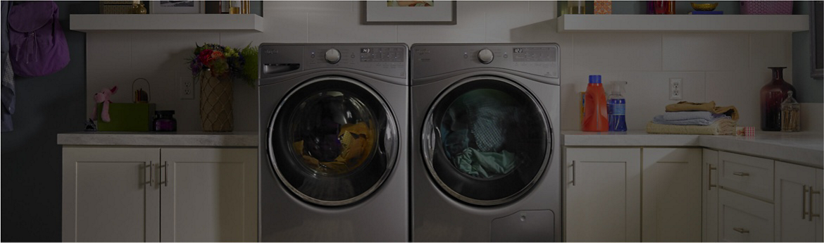 Find washer and dryer dimensions with Whirlpool brand's guide.