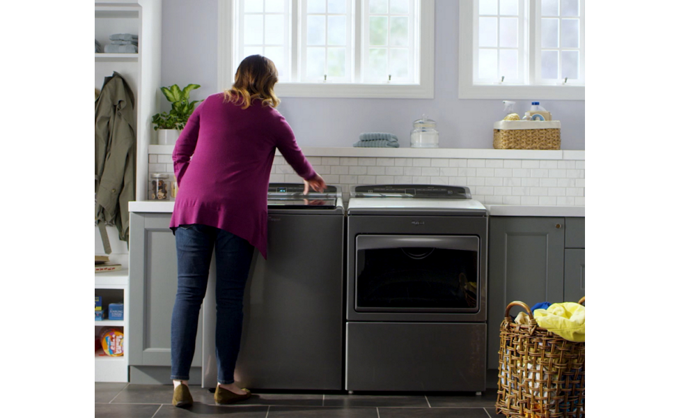 Whirlpool® washers help get dried paint out of jeans