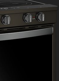 Slide-in electric range in Black Stainless Steel