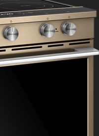 Slide-in electric range in Sunset Bronze