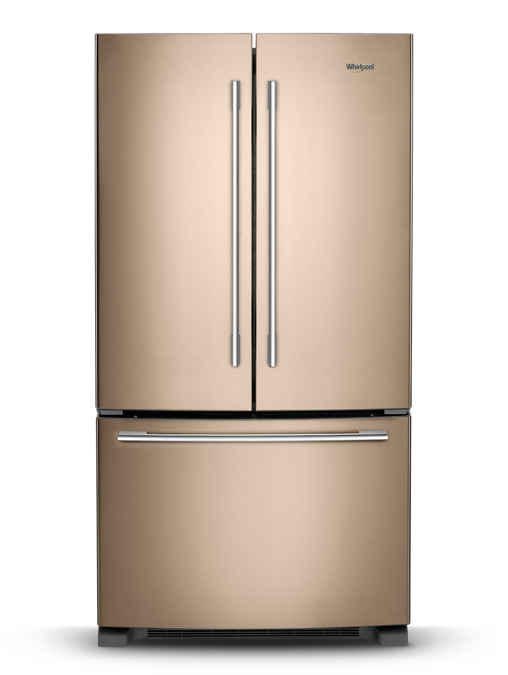 See what a new appliance finish on Whirlpool refrigerators can do for your design.