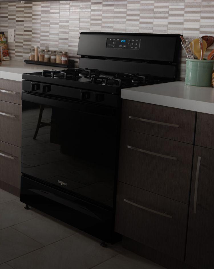 Whirlpool® freestanding range.
