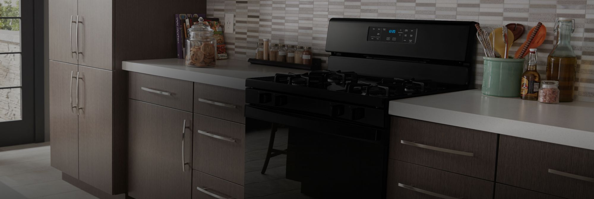 Whirlpool® wall oven and cooktop.