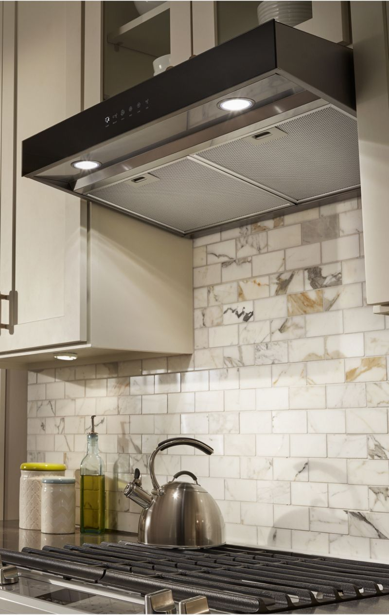 Make sure the kitchen vent hood you choose is the right size with the fit system