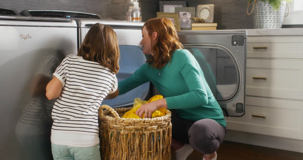 Avoid over drying with touch screen dryers from Whirlpool.
