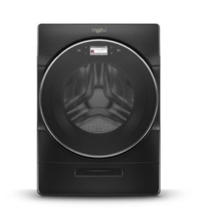 Smart front load washer helps you keep laundry moving.