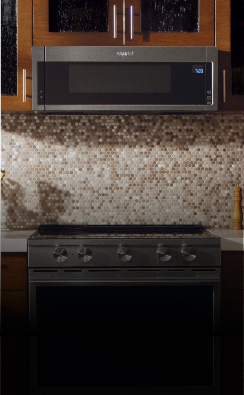 Low profile microwave over the range from Whirlpool.