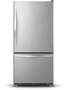 30 Inch Wide Bottom Freezer Refrigerator 18 7 Cu Ft Stainless Steel White Black