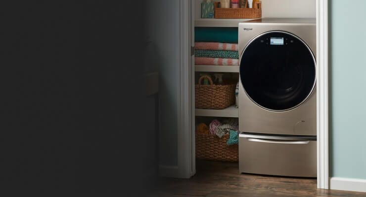 Whirlpool® small space laundry appliances.