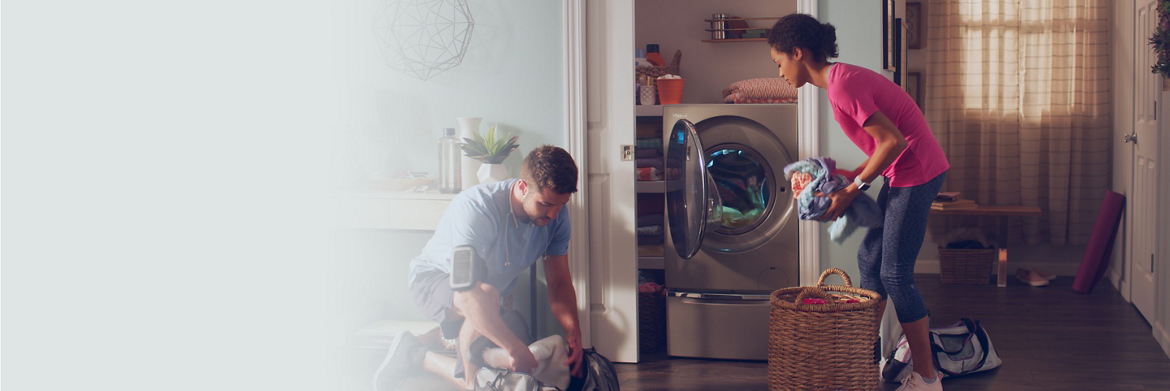 Get clothes clean, fast with a Whirlpool® laundry machine.