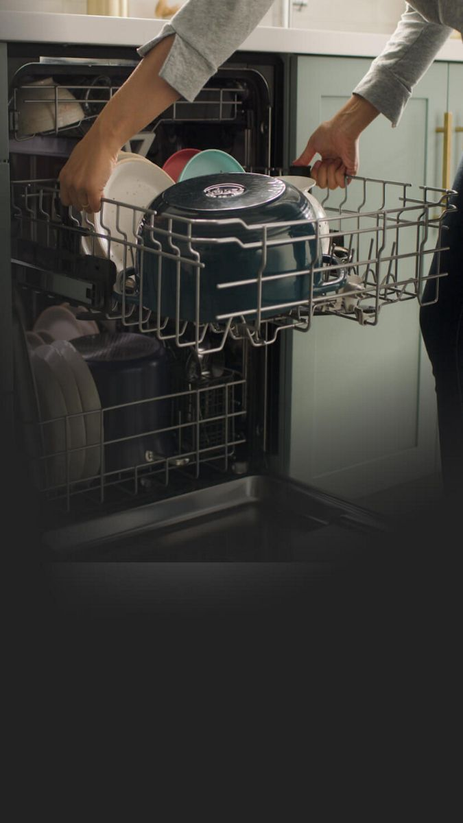 Adjust the 2nd rack up or down to make room for tall items