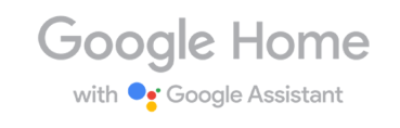 Google Home works with Google Assistant logo