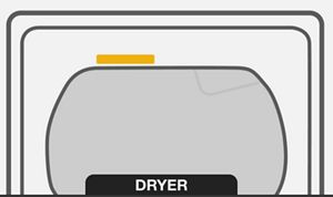Locate the Dryer Model and Serial Number
