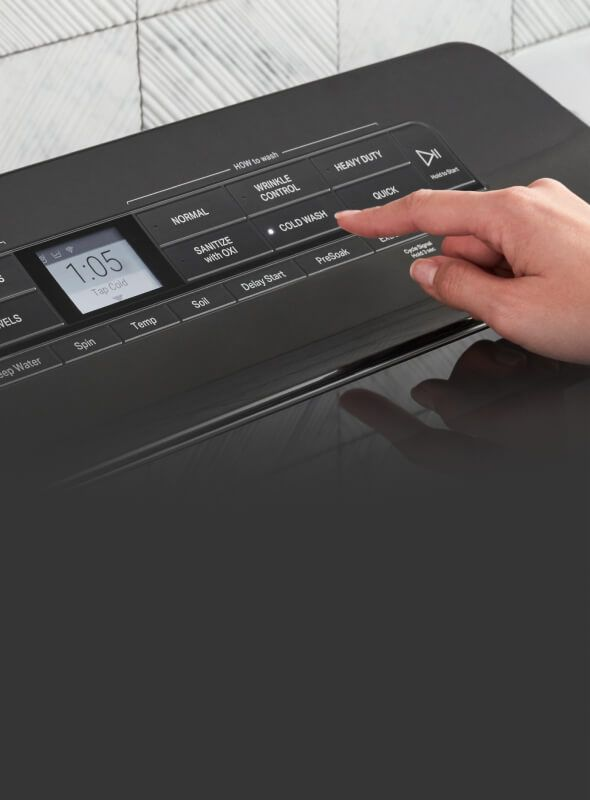 Selecting cycles and options on washer console