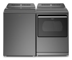 Washer and dryer pair in Chrome Shadow