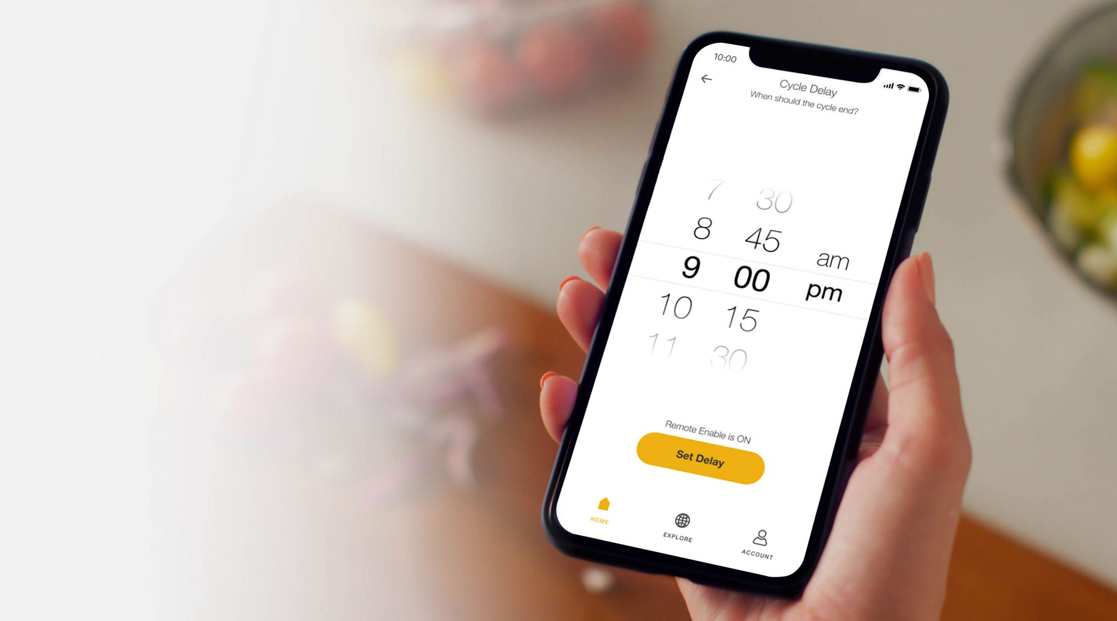 Schedule wash cycle in the Whirlpool® App