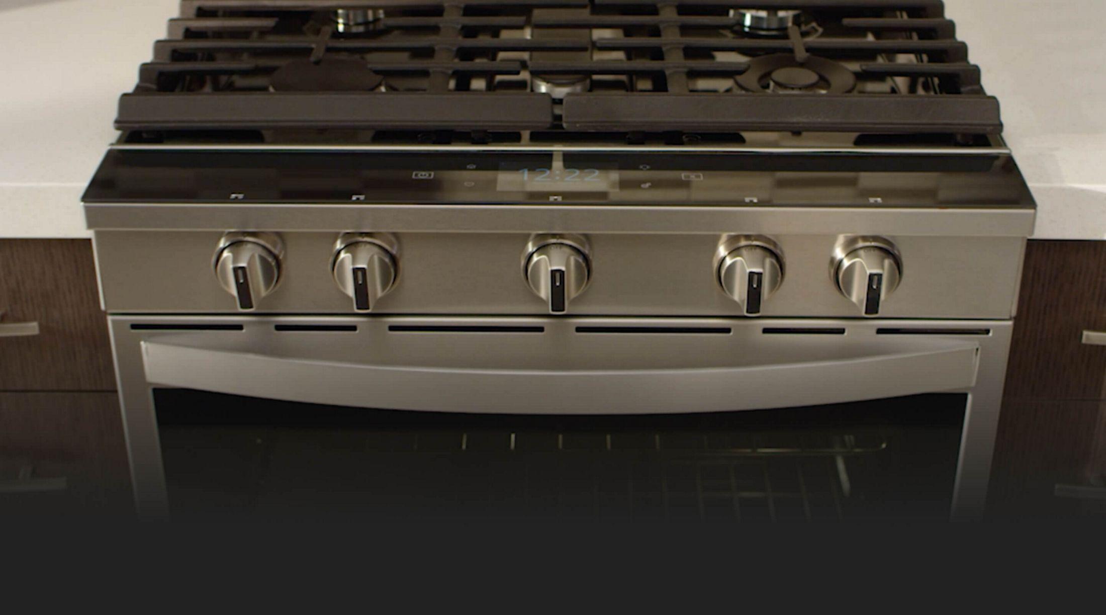 Whirlpool® smart slide-in range in a kitchen