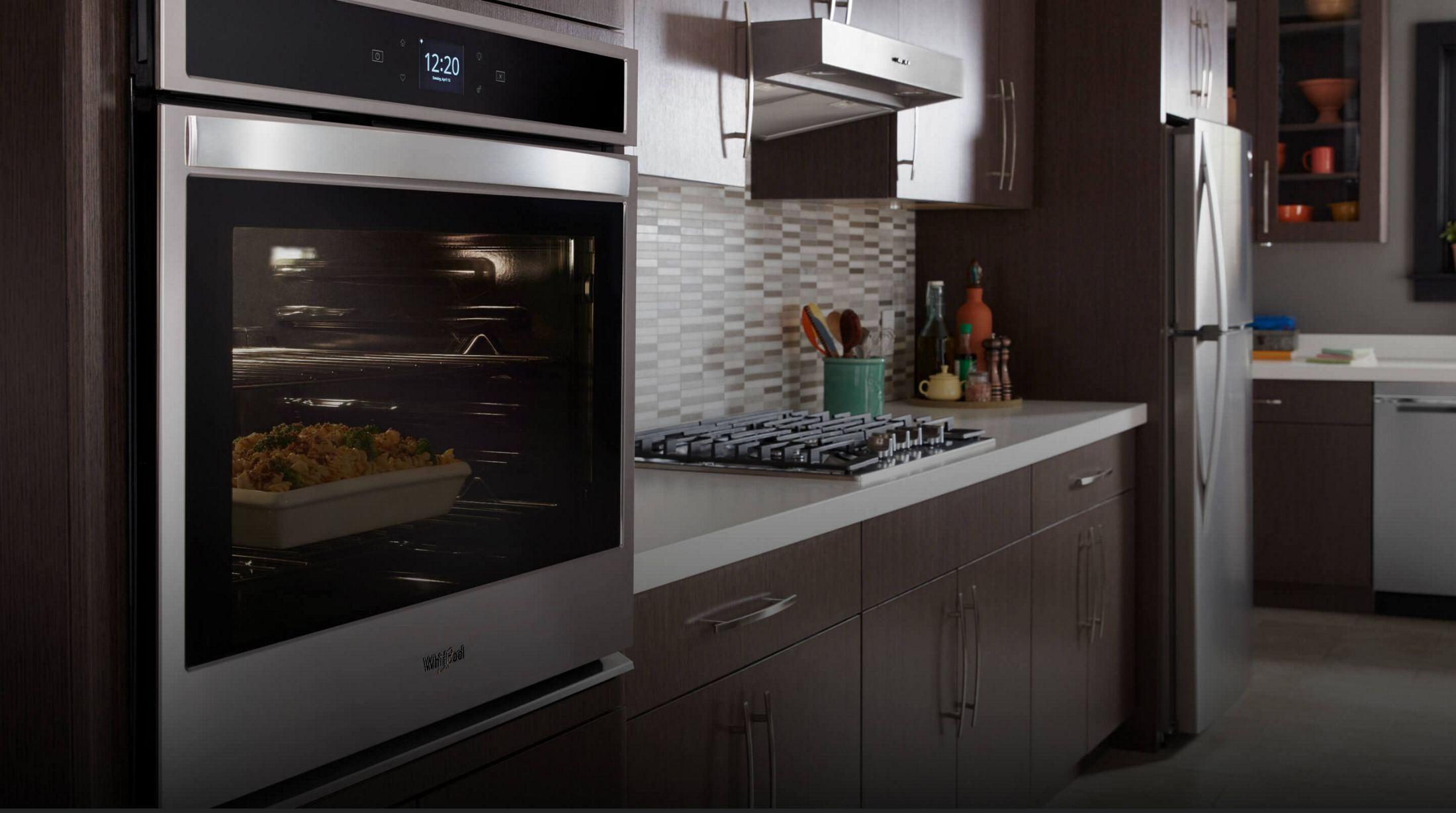 Whirlpool® smart wall oven in a kitchen
