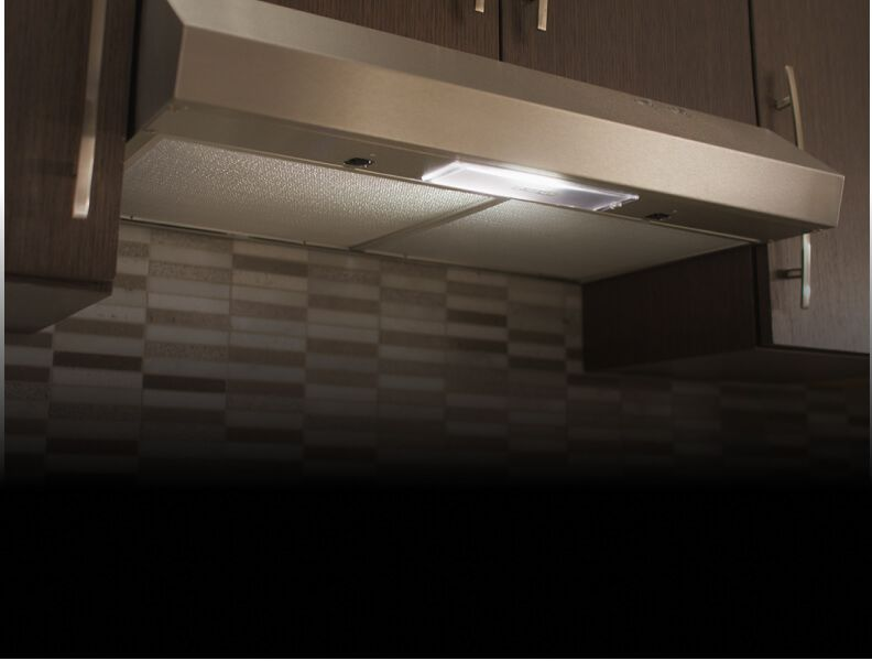 A Whirlpool® under-cabinet hood.