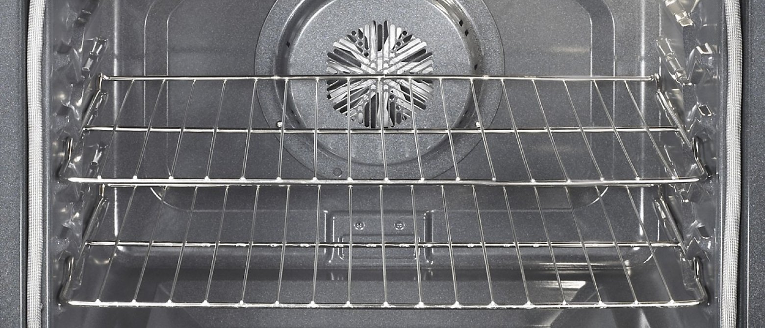Inside view of oven cavity and racks
