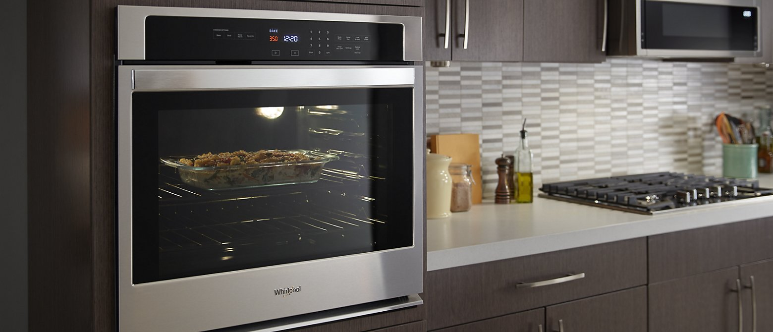 Whirlpool® wall oven in kitchen