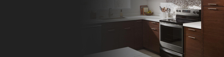 Range in kitchen