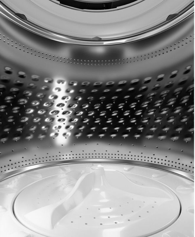 The interior of an impeller washer