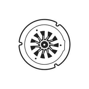 Oven convection fan